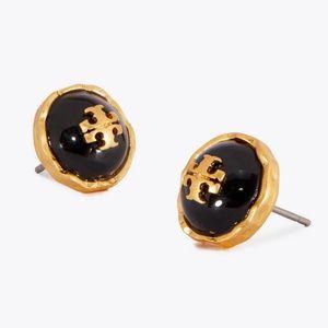 Tory Burch earrings logo black earrings